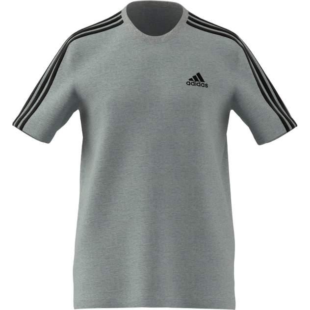 Футболка мужская Adidas Essentials 3-Stripes Tee серая XL INT