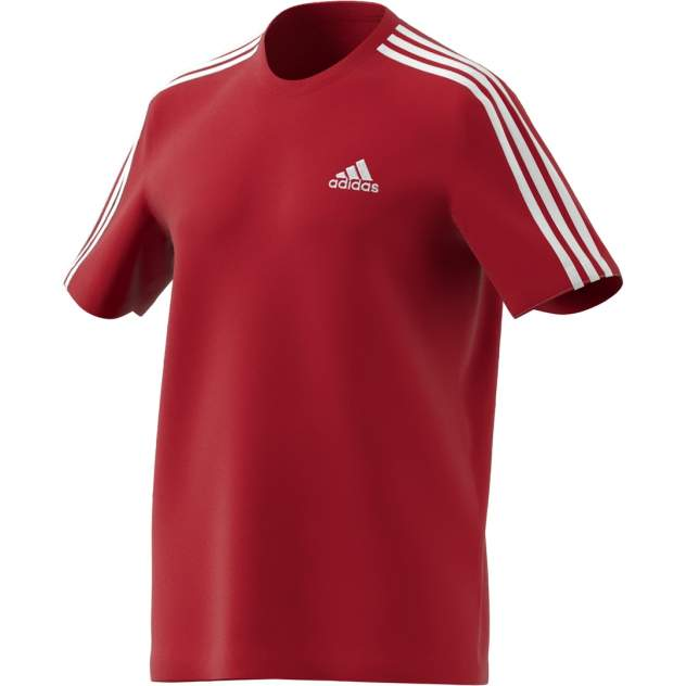 Футболка мужская Adidas Essentials 3-Stripes Tee красная XL INT