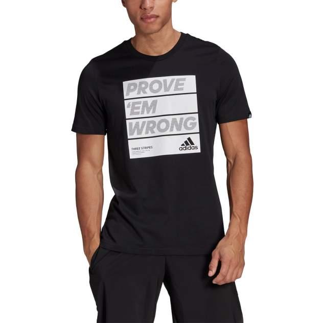 Футболка мужская Adidas Prove Em Wrong Motivational Slogan Graphic Tee черная M INT