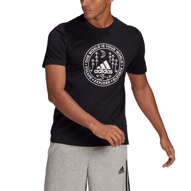 Футболка мужская Adidas Explore Nature Graphic Tee черная XL INT