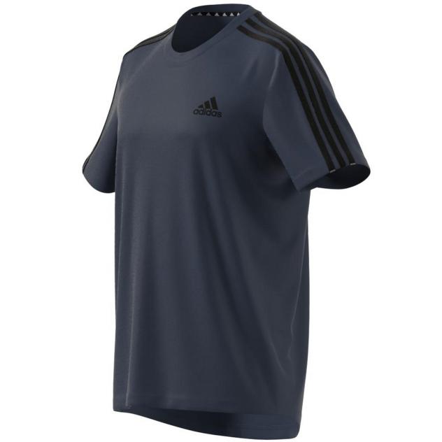 Футболка мужская Adidas Designed 2 Move 3 Stripes синяя XL INT