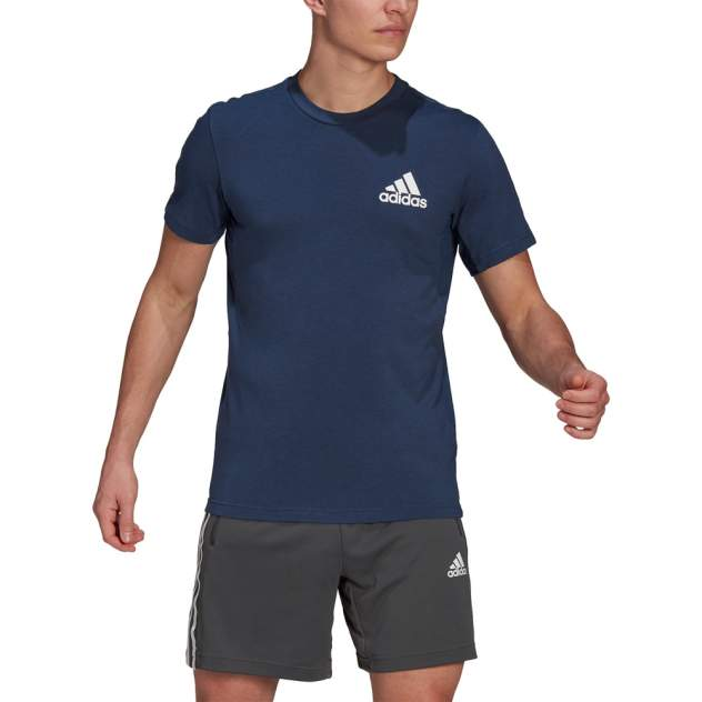 Футболка мужская Adidas Designed 2 Move синяя XL INT