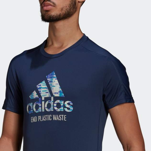 Футболка мужская Adidas Run for the Oceans Graphic синяя XL INT
