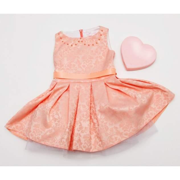 Платье Из Жаккарда Bon&bon персиковое р.122