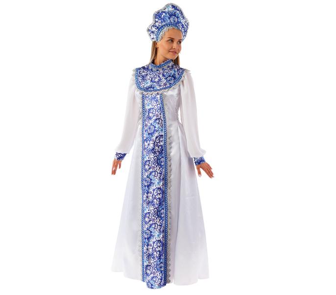 Карнавальный костюм Батик Снегурочка, цв. белый р.164