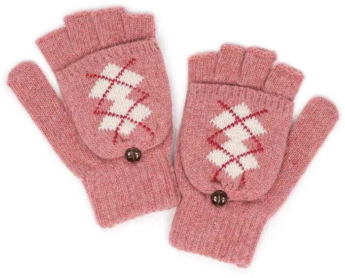 Женские перчатки Gsmin Warm Shelter, розовый