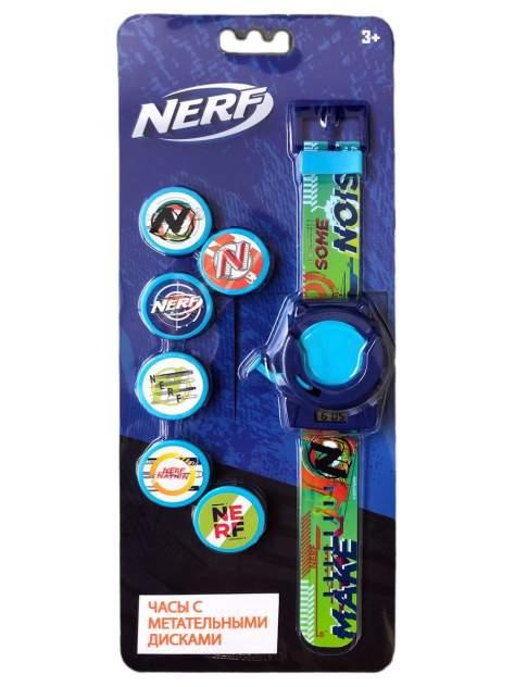 Часы наручные электронные NERF Метатель дисков, 6 дисков в комлекте