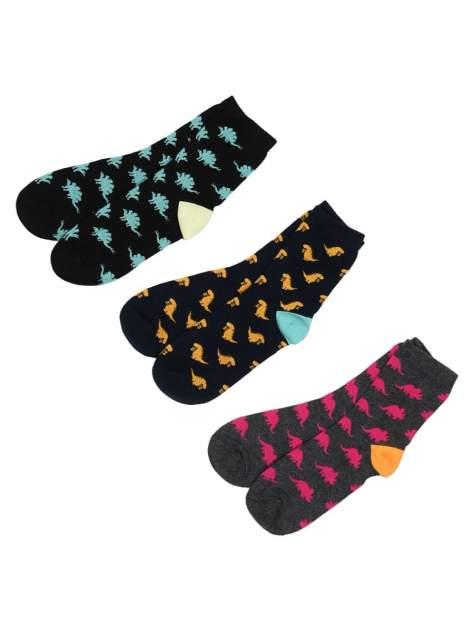 Носки детские 3 пары Modis, цв. серый; синий; черный р.18-20