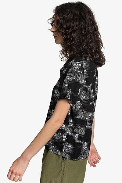 Женская рубашка с коротким рукавом Womens Quiksilver, черный, M