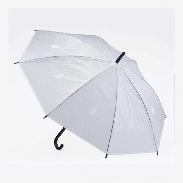 Зонт-трость Котофей 03807070-00 прозрачный