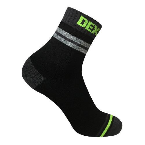 Носки DexShell Pro Visibility Cycling, черные/серые/зеленые, L