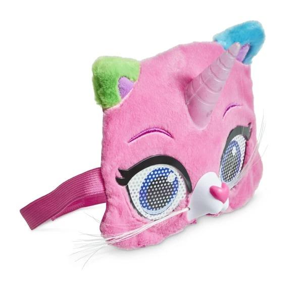 Маска Радужно-бабочково-единорожная кошка Радужные кошачьи глаза