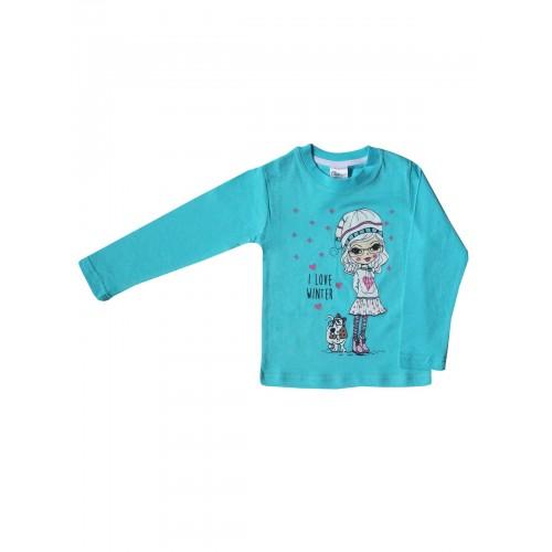 Джемпер для девочек Bella veza, цв. голубой, р-р 86