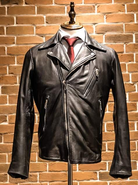 Мужская кожаная куртка EMILIO ROMANELLI P208, черный