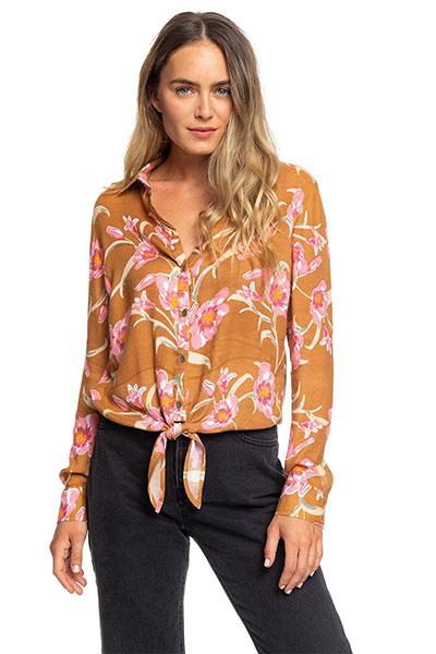 Рубашка с длинным рукавом Suburb Vibes Roxy, коричневый, S