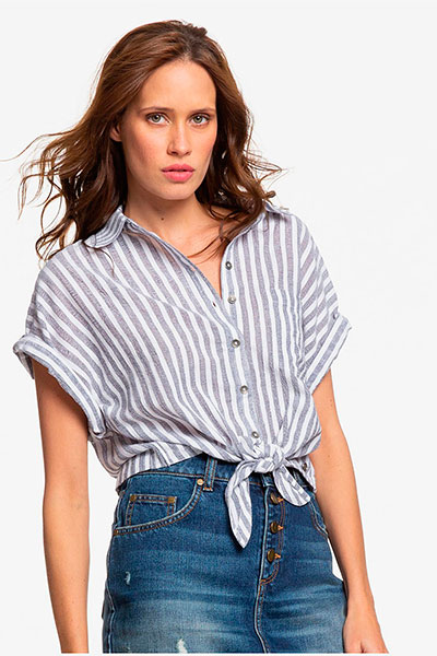 Женская рубашка с коротким рукавом Full Time Dream Roxy, белый, S