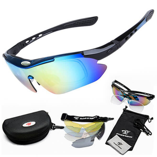 Поляризационные очки TND 00384 со сменными стеклами (набор из 12 предметов)