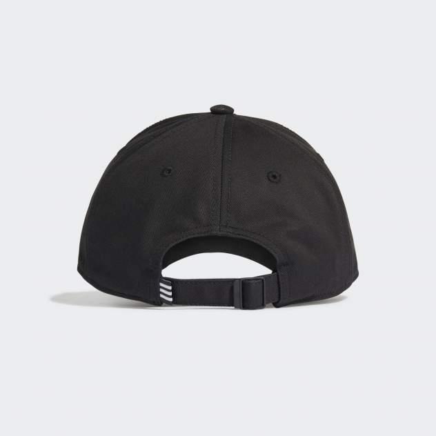 Бейсболка унисекс Adidas Baseball 3S Cap черная, р.56-58