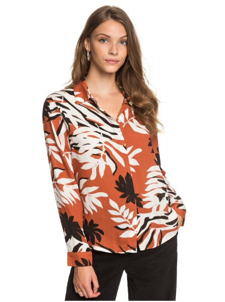 Женская рубашка с длинным рукавом White Shadow, мультиколор, L