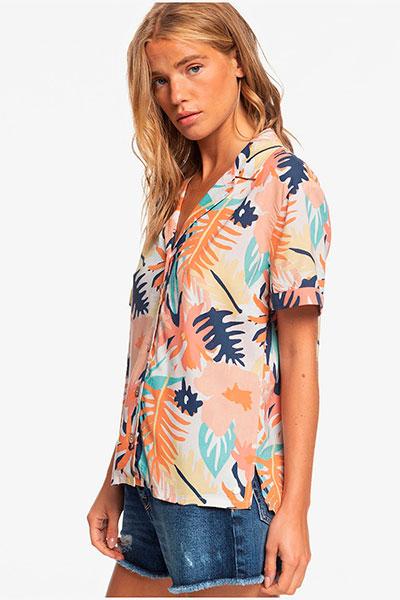Женская рубашка с коротким рукавом Remind To Forget Roxy, мультиколор, M