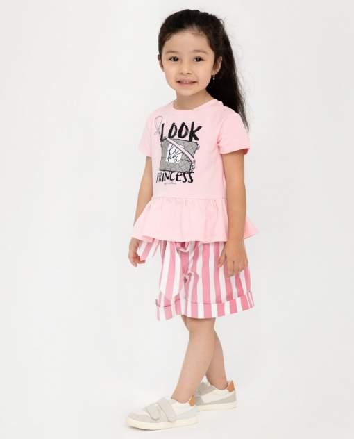 Футболка с коротким рукавом для девочек Gulliver, цв. розовый, р-р 110