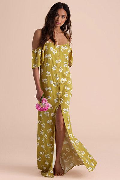 Платье женское Shoulder Sway, цитрус, M
