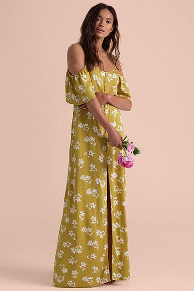 Платье женское Shoulder Sway, цитрус, S