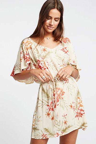 Платье Fine Flutter Pistachio, белый, L