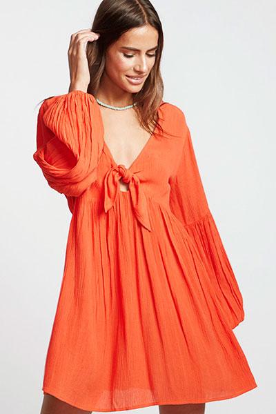 Женское платье Billabong Blissfull Samba S3DR16-BIP0, оранжевый