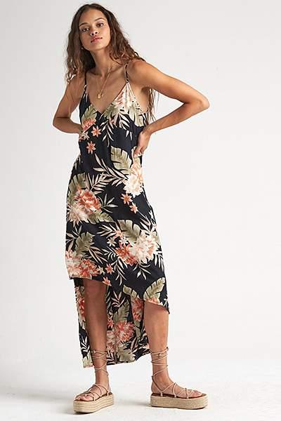 Платье женское Billabong The Best Floral Black, черный, L