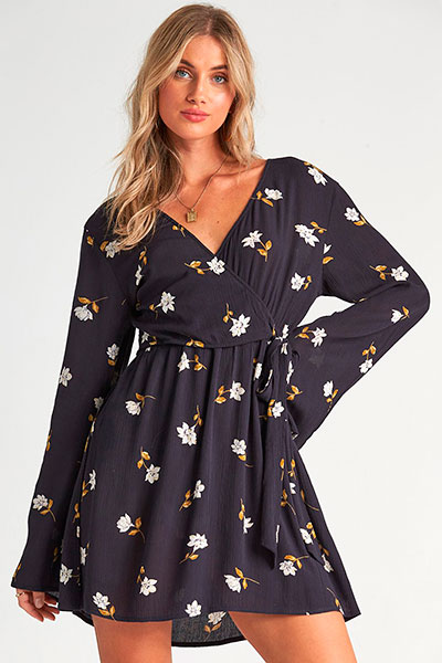 Платье Billabong Side Out Black, черный, M