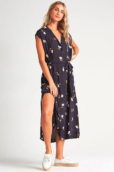 Платье Little Flirt Black Floral, черный, L