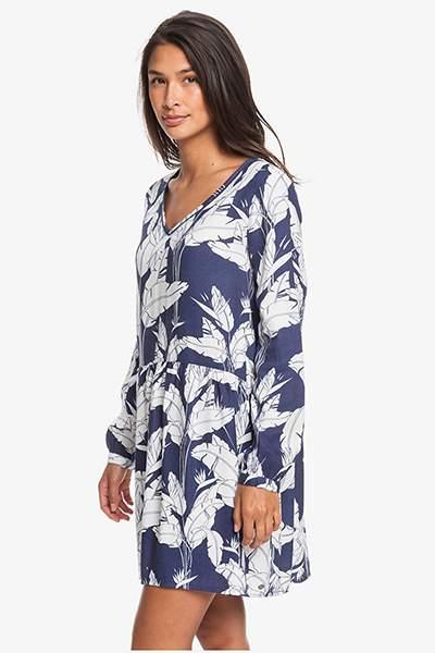 Женское платье с длинным рукавом Indigo Night Roxy, синий, L