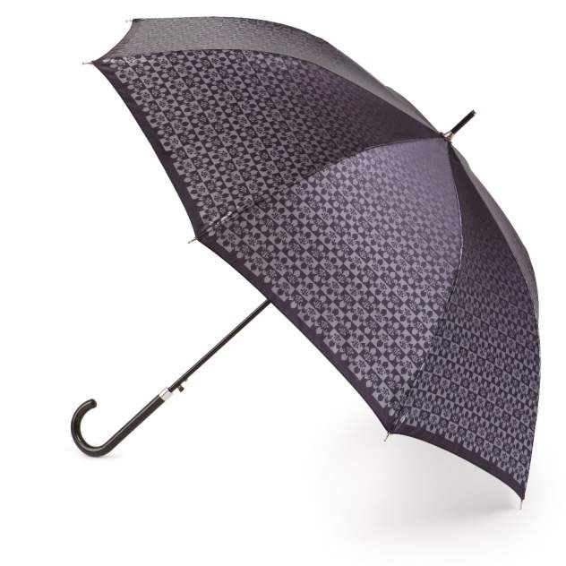 Зонт-трость женский автоматический Henry Backer U11203 серый