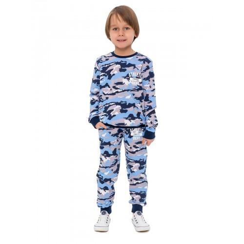Брюки трикотажные для мальчиков KIDAXI, цв. голубой, р-р 98