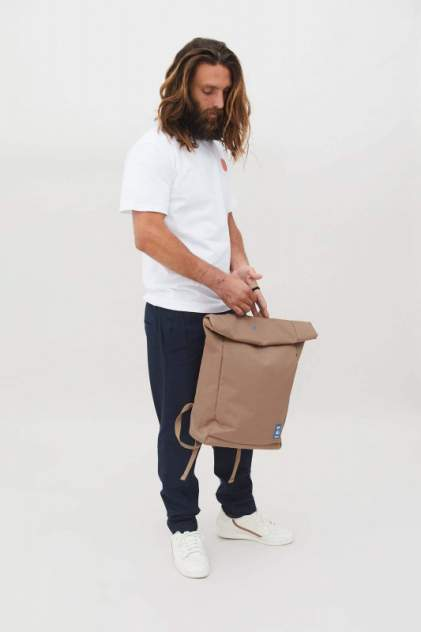 Рюкзак мужской Lefrik Roll бежевый