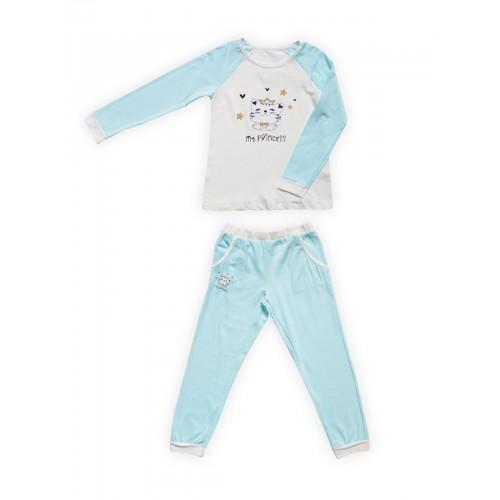 Пижама детская Miss Beautiful, цв. голубой р.92
