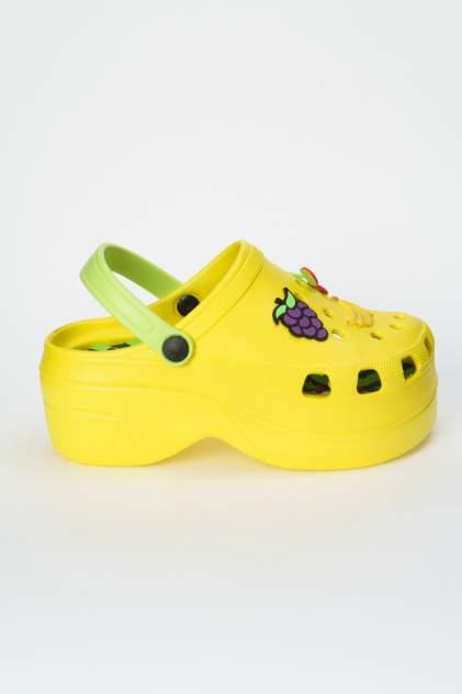 Шлепанцы женские Keddo 807030/01 желтые 37 RU