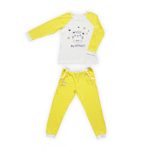 Пижама детская Miss Beautiful, цв. желтый р.116