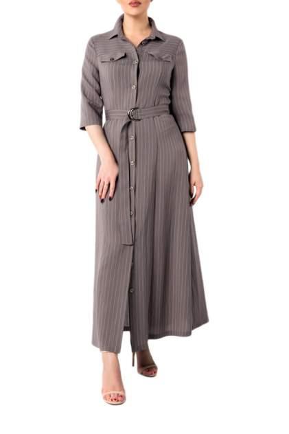Платье-рубашка женское Hestollina OS-119-1 бежевое 52