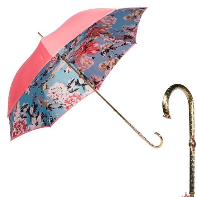Зонт-трость женский механический Pasotti Magenta розовый/голубой