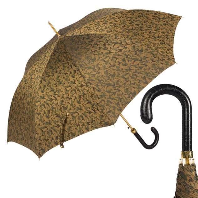 Зонт-трость мужской полуавтоматический Pasotti Lazer золотистый/коричневый