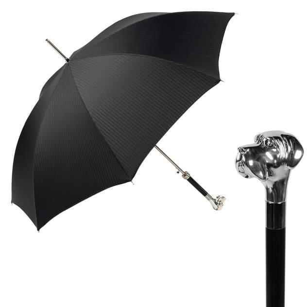 Зонт-трость мужской полуавтоматический Pasotti Labradore черный