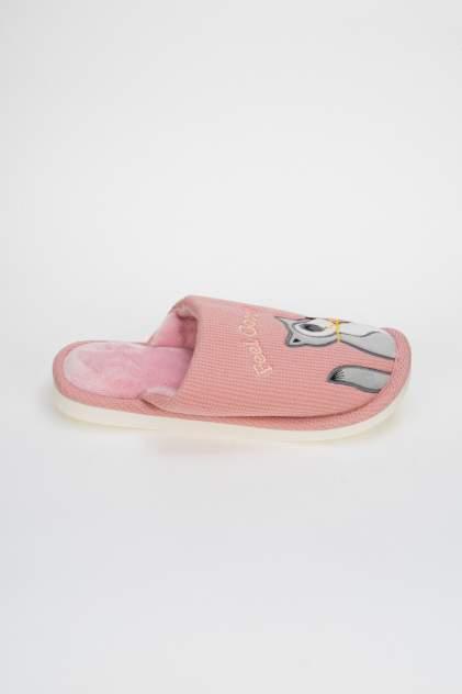 Домашние тапочки женские Kawaii Factory Енот розовые 40 RU