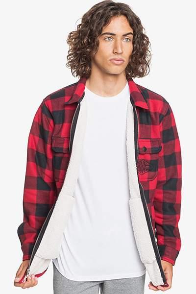 Мужская флисовая куртка Tolala, красный, M
