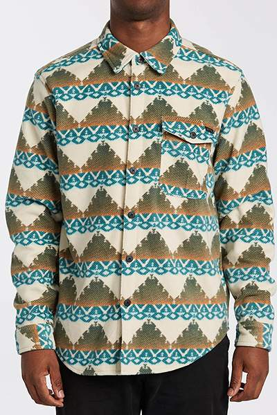 Флисовый мужской джемпер Adventure Division Furnace Flannel, бежевый, S