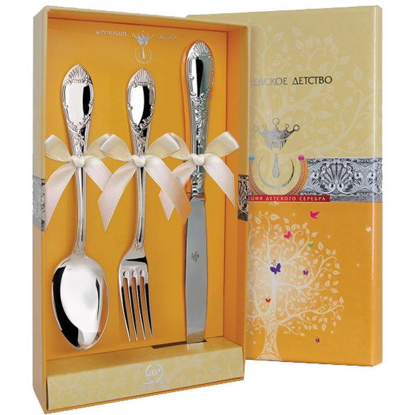 "Набор десертный ""Престиж"" (3 предмета ложка + Вилка + нож)"