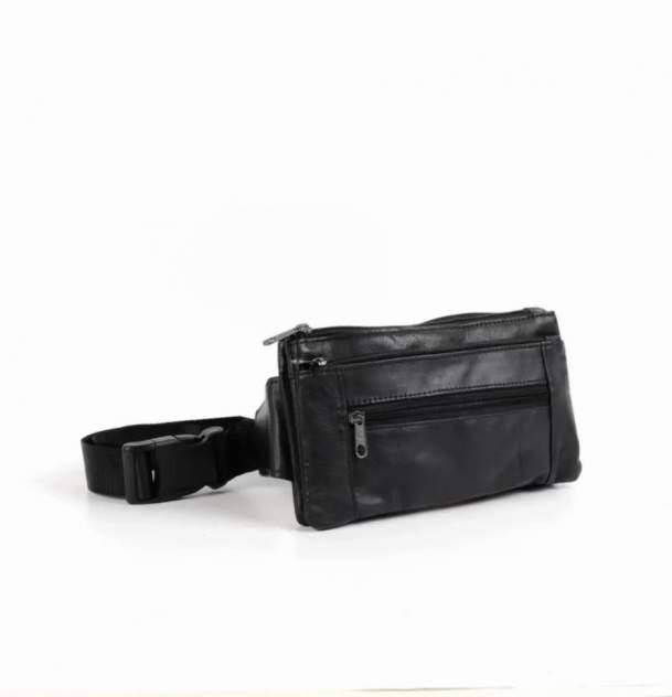 Поясная сумка мужской Fuzi house Плоская черный