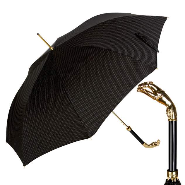 Зонт-трость мужской полуавтоматический Pasotti Jaguar Gold Dot черный