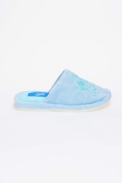 Домашние тапочки женские Effa 75363 голубые 38 RU